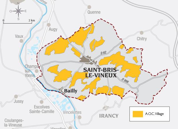Carte Appellation Saint-Bris